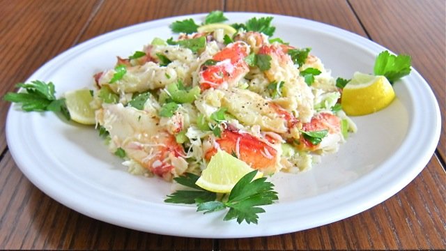 Easy crab salad