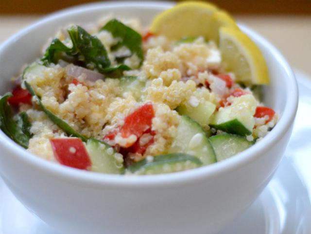 Fast & easy cucumber quinoa salad