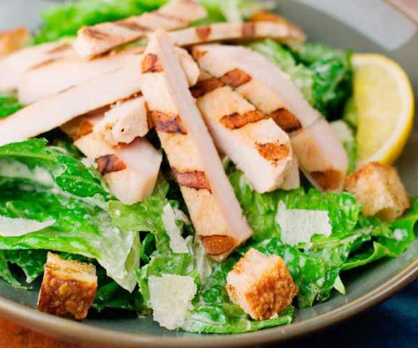 Caesar Chicken Salad with Spinach