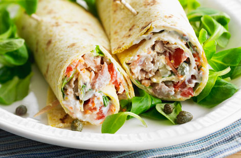 Tuna burrito wraps