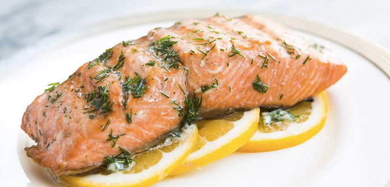 Barbecued-salmon